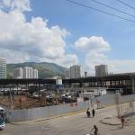 Vista geral das obras no Terminal de Nova Iguaçu